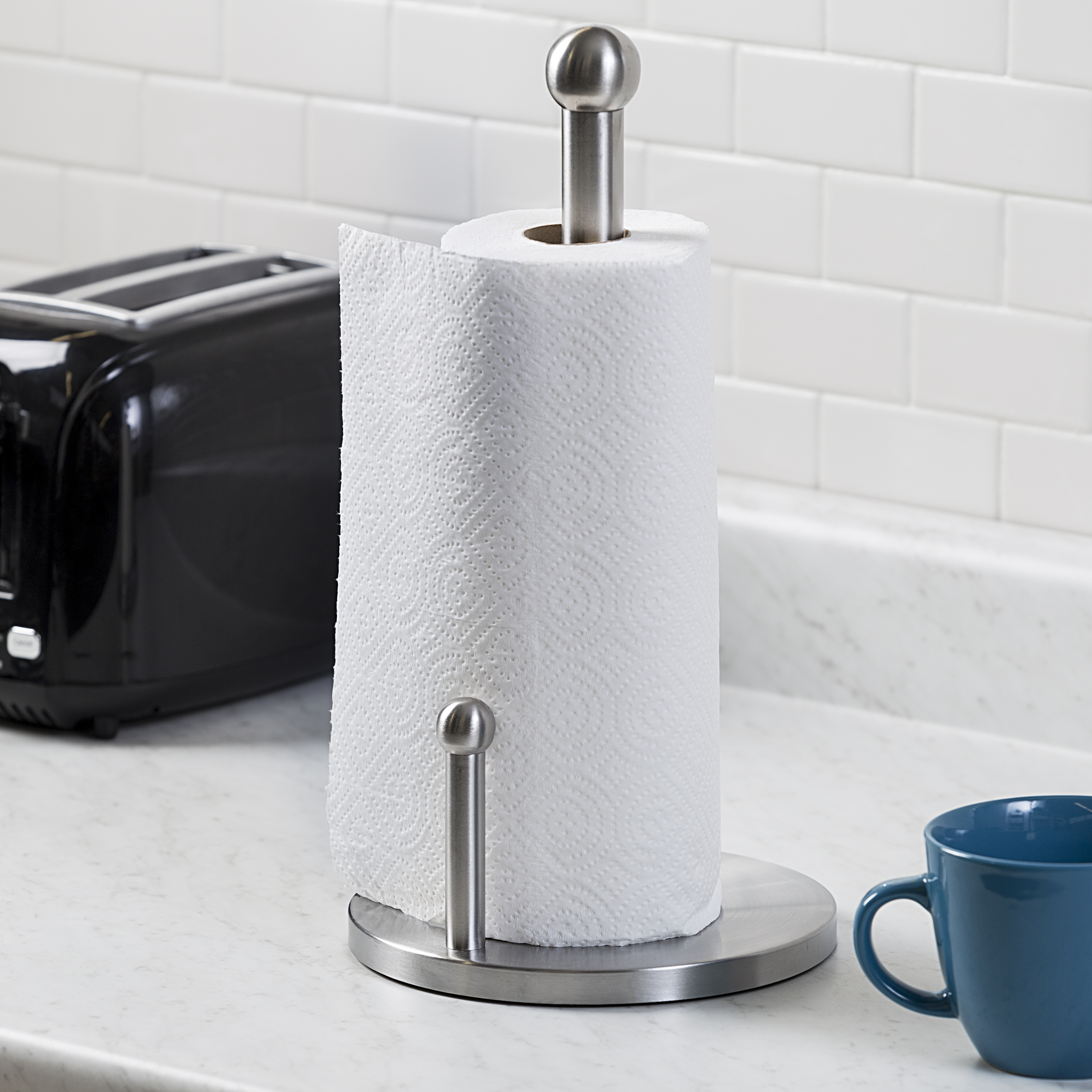 Honey Can Do Stainless Steel Paper Towel Holder, Silver   Walmart.com