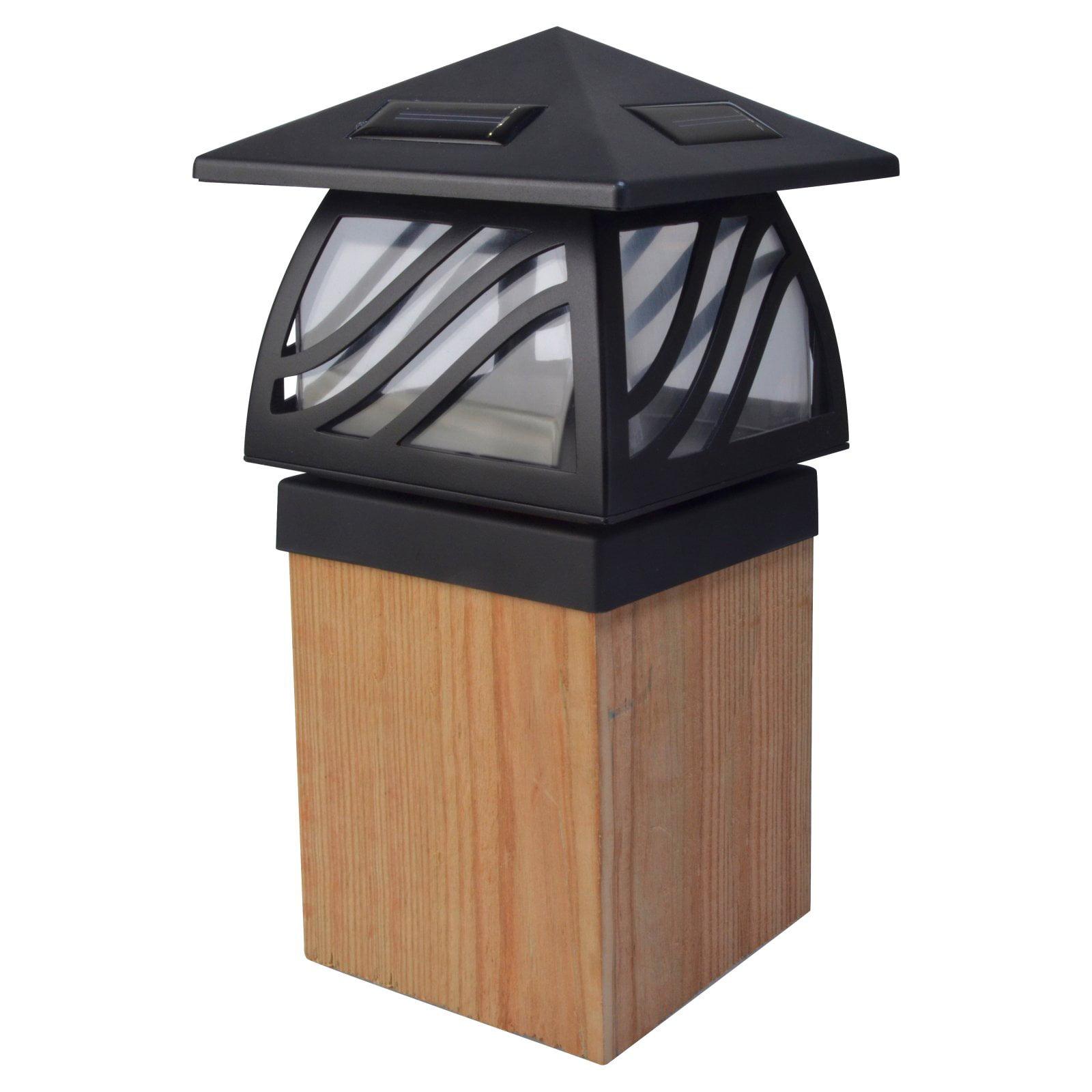 Moonrays 91196 Solar Powered LED Post Cap Light, Black Finish