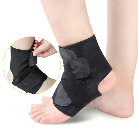 One Size Open-Heel Compression Ankle Support Sleeve Ankle Protective Brace