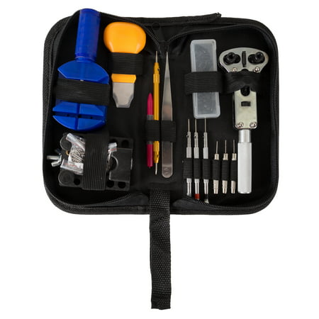 144 Piece Watch Repair Kit- Tool Set for Repairing Watches Including Opener, Watch Holder, Link Remover
