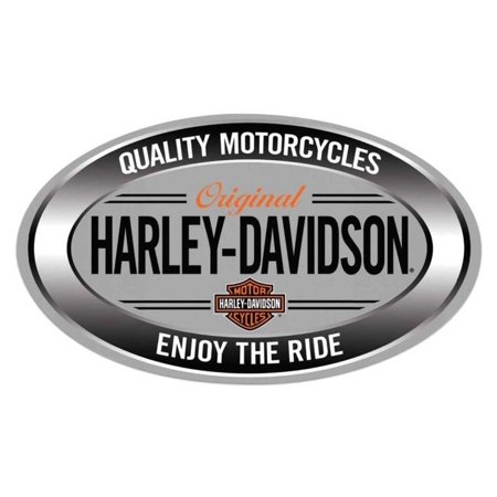 - Harley-Davidson Enjoy Ride Oval Embossed Tin Sign, 18 x 10.5 inches 2011591