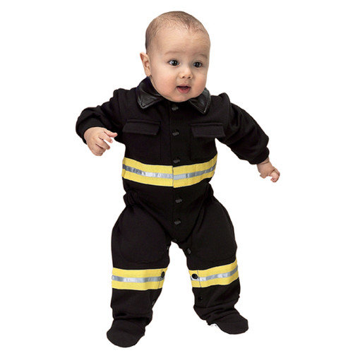 Aeromax FFB-ROMP Jr.  Fire Fighter Suit  Size 6 to 12 Months - Black