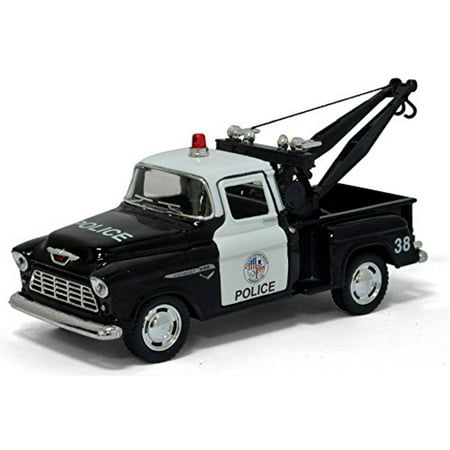 1955 Chevy Stepside Pick-up Police Tow Truck Diecast Model 1:32 Scale by Kinsmart ()