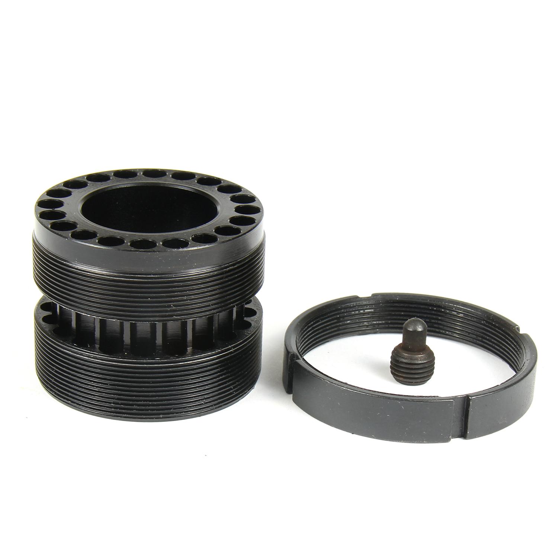 TACFUN Standard Barrel Nut with Steel Jam Nut Ring for Free Float Quad rail .223