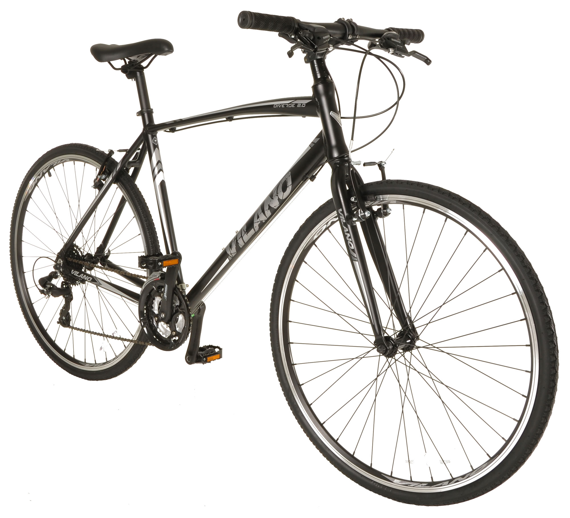 Vilano Diverse 2.0 Performance Hybrid Bike 24 Speed Shimano Road Bike 700c