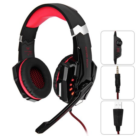 Kotion Each G9000 Gaming Headset Headphone 3.5mm Stereo Jack with Mic LED Light for Xbox One S/Xbox one/PS4/Tablet/Laptop/Cell