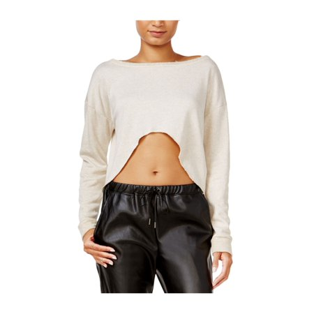 Chelsea Sky Womens Crop Top Basic T-Shirt natural L - image 1 of 1