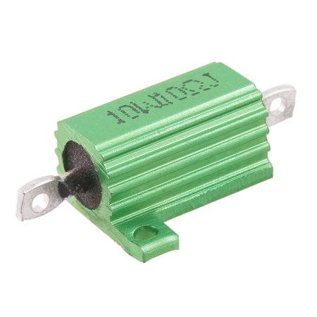 Green 10 Watt 10 Ohm 5% Aluminum Shell Wire Wound Resistor Wdode - image 1 of 1