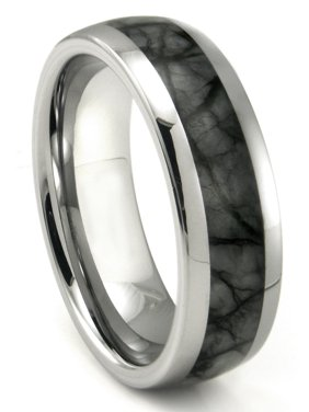 19632e47f Product Image Tungsten Carbide Grey Metamorphic Stone Inlay Dome Wedding  Band Ring Sz 10.0. Titanium Kay