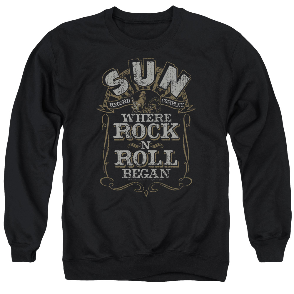 Sun Where Rock Began Mens Crewneck Sweatshirt