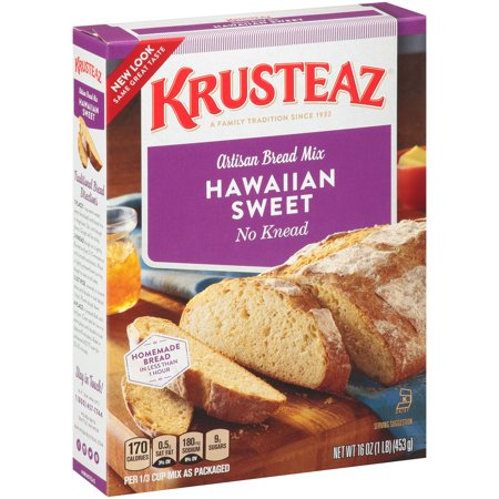 (12 Pack) Krusteaz No Knead Hawaiian Sweet Artisan Bread Mix, 16-Ounce (16 Ounce Mixer)