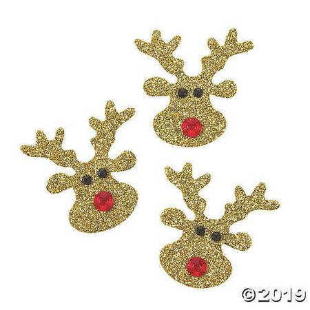 Embellishments Reindeer Games - Glitter Reindeer Embellishments