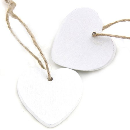KABOER Christmas Wooden Solid Color Hanging Ornament Decoration Heart-shaped Pendant ()