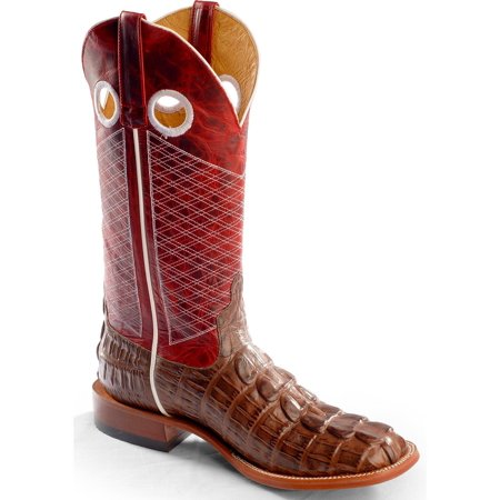 Horse Power Mens Caiman Tail Print Western Boot Square Toe   Hp1772 Move