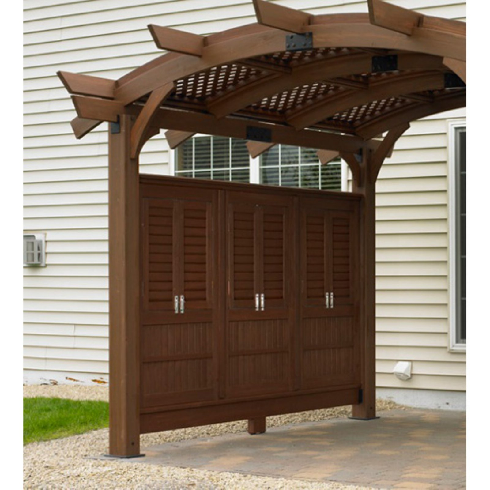 Outdoor GreatRoom Privacy Wall for Sonoma Arched Pergola