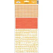 Teensy Type Cardstock Alphabet Stickers-Tangerine Multi-Colored