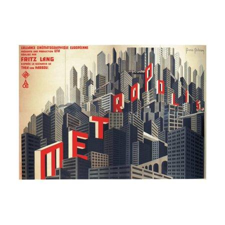 Metropolis by Fritz Lang, 1926 Print Wall Art By Boris Konstantinovich Bilinsky