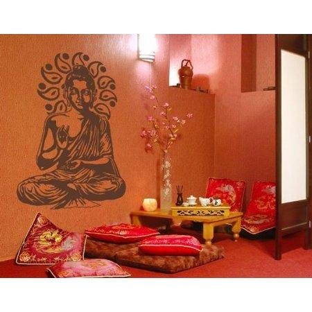 Buddha Meditating Wall Decal Buddhism religion Wall Sticker Vinyl Wall