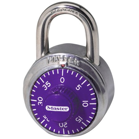 1514D Padlock, Standard Dial Combination Lock, 1-7/8 in. Wide, Assorted Colors, 1.875