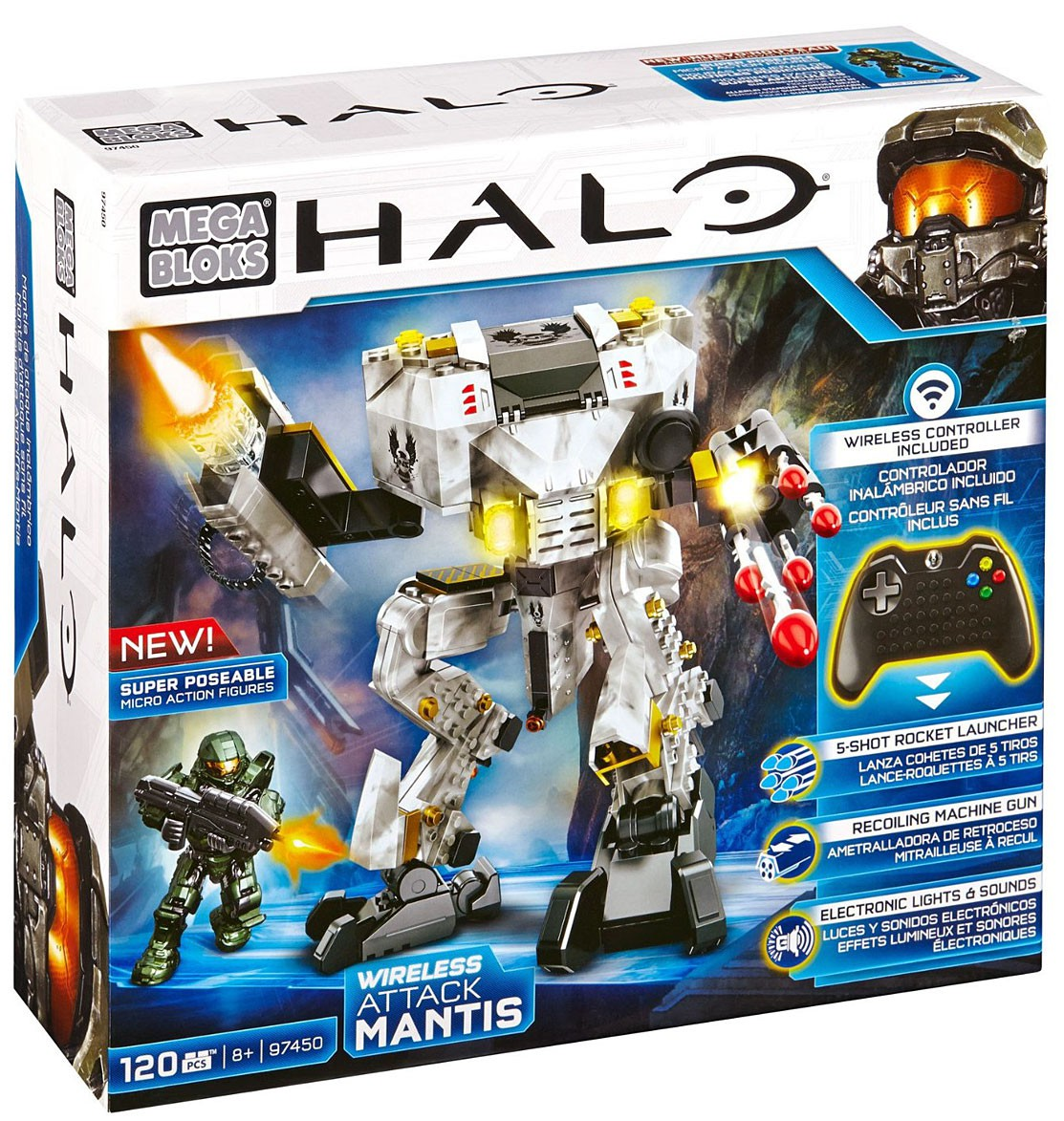 Mega Bloks Halo Wireless Attack Mantis Multi-Colored
