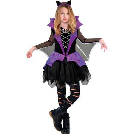 Vampire School Girl Costume (Miss Battiness Vampire Halloween Costume for Girls, Small, with Included Accessories, by)