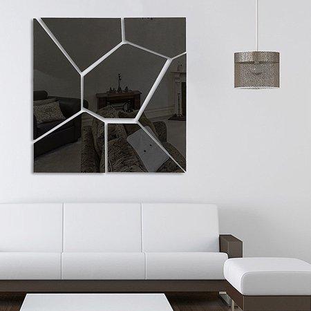 ❤ 6PCS Cute 3D Art Mirror Wall Sticker DIY & 7PCS Geometry Mirror Wall Sticker Acrylic Vinyl Flexible Removable Home View Window Decal Art Decor Mural ❤ - image 4 de 5