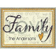 "Family Mini Counted Cross Stitch Kit, 7"" x 5"", 14-Count"