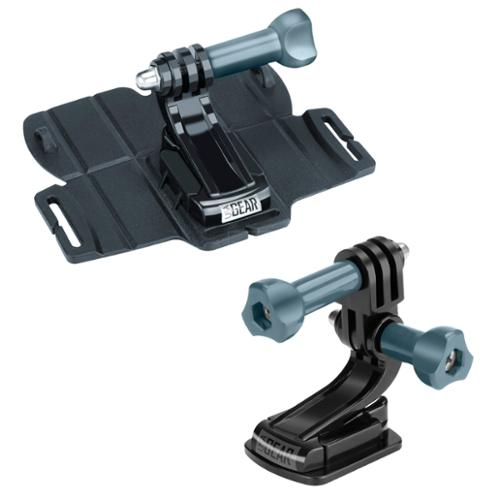 Rugged Water-Resistant Action Camera Mount Combination by USA Gear - Includes a Flat and Large Adhesive Mount for Action & Compact Camera Systems such as GoPro , Sony , Canon , Nikon , Fujifilm & More