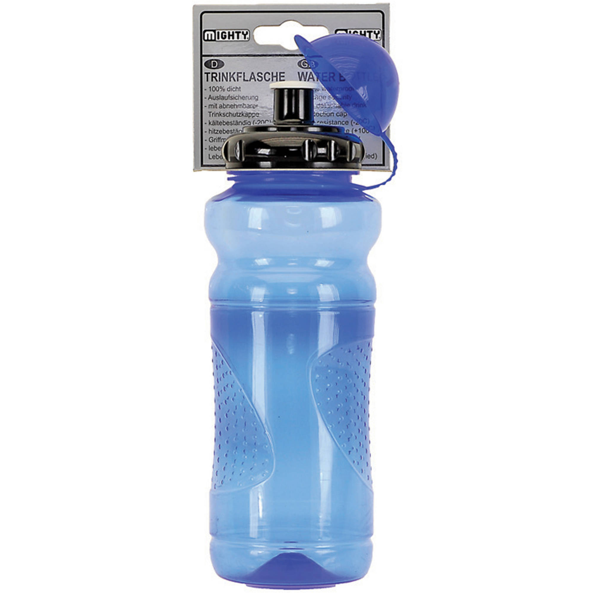 Mighty Blue Transparent Water Bottle