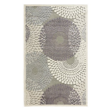 Nourison Graphic Illusions Ivory Blue Area Rug