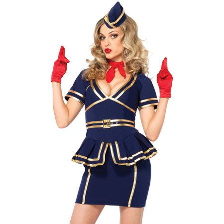 Leg Avenue Women's Sexy Flight Attendant Costume](Halloween Costumes Flight Attendant)