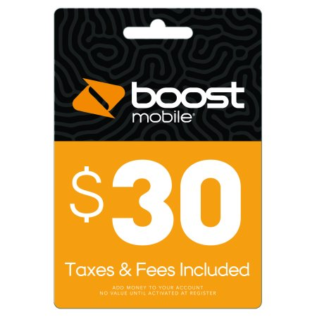 $30 Re-Boost Card (Email Delivery) Boost Mobile Unlimited