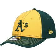 Oakland Athletics New Era Preschool Clutch Two-Tone 9FORTY Adjustable Hat - Gold/Green