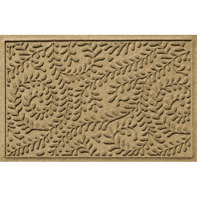 Bungalow Flooring Water Guard Boxwood Leaf Mat in