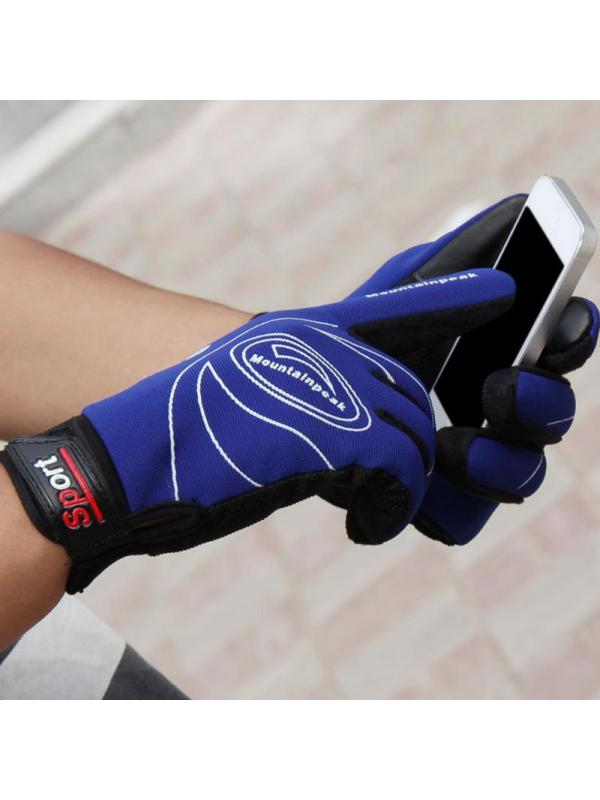 Winter Thermal Warm Bike Motorcycle Cycling Gloves Breathable for Men Women Blue