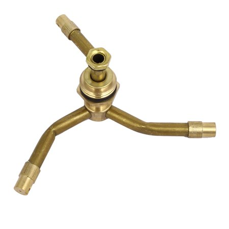 1/2BSP Male Thread Brass 3-Arm Lawn Garden Watering Rotating Sprinkler - image 2 of 3