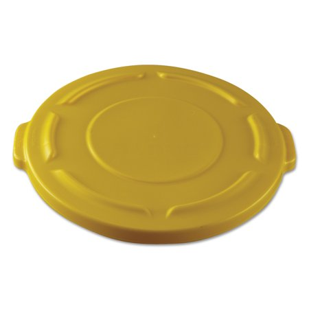 Gallon Brute Round Container Lid - Round Flat Top Lid, for 20-Gallon Round Brute Containers, 19 4/5