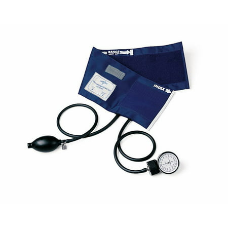 Medline Handheld Aneroid Sphygmomanometer w/PVC Tubing & Bladder, Adult, - Hand Sphygmomanometer