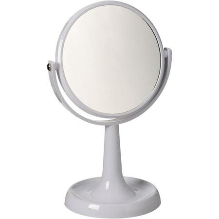 Bermuda Sand Swanstone Vanity (Mainstays Double Sided White Vanity Mirror, 1)