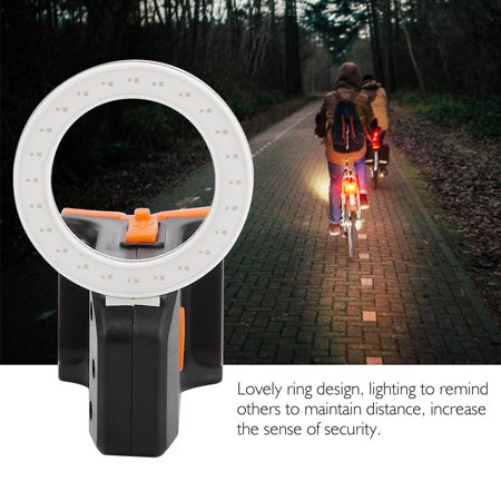 Sonew Cycling Bicycle Ring Taillights USB Charging Highlight Night Riding Warning Light, Cycling Taillight, Bicycle Ring Taillight - image 6 of 8