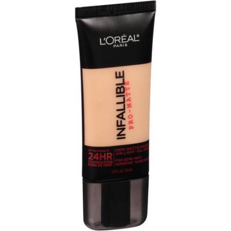 L'Oreal Paris Infallible Pro-Matte 24HR Foundation, 106 Sun Beige, 1.0 oz - Walmart.com