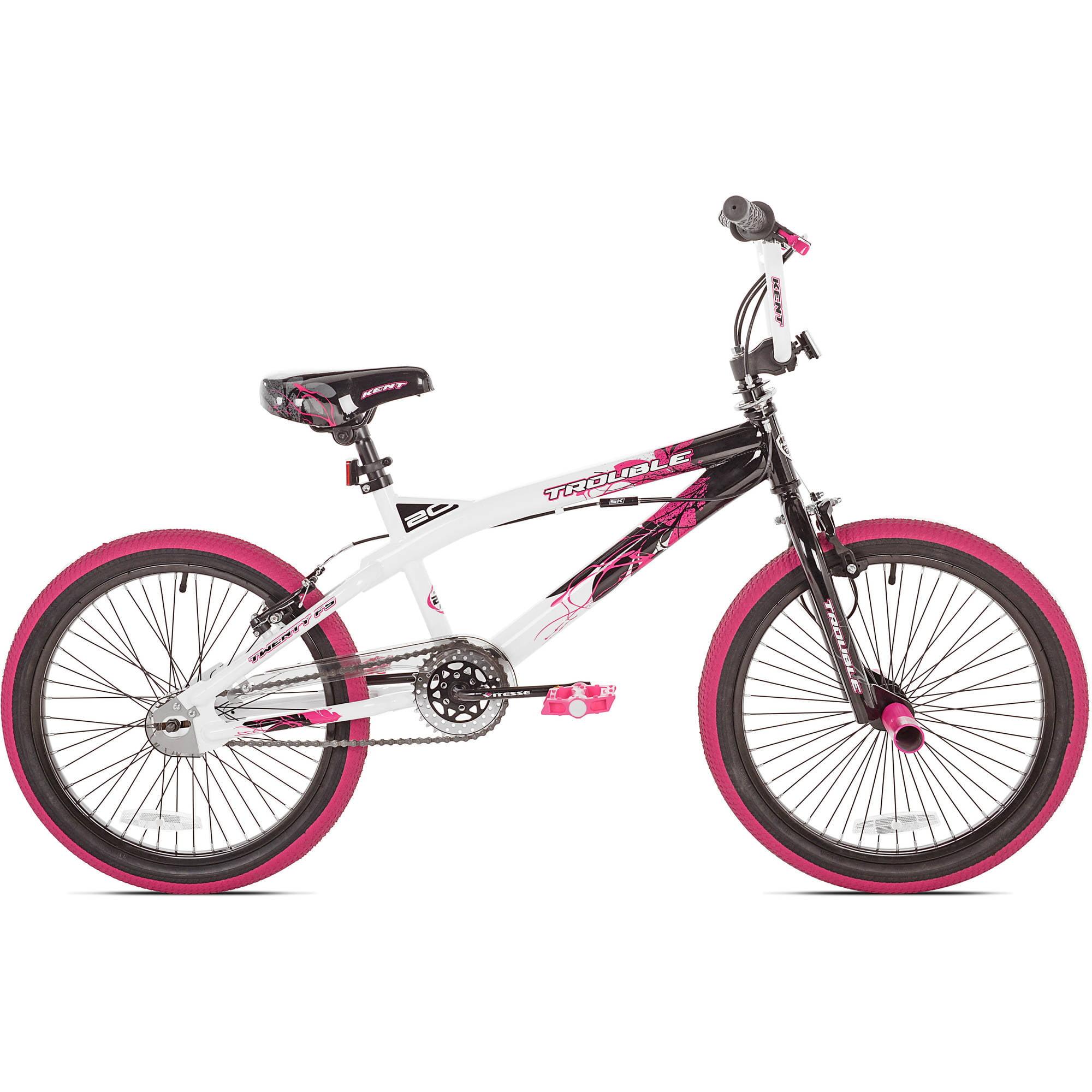 "20"" Kent Trouble Girls' Bike, Pink/Black"