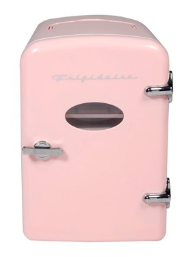 Frigidaire Portable Retro Extra Large 9-Can Mini Fridge EFMIS175, Pink