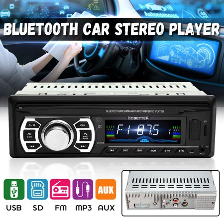 2018 New 12V Car Stereo FM Radio MP3 Audio Player Support bluetooth Phone with USB/SD/AUX MMC Port Car Electronics In-Dash 1 DIN+Remote Control
