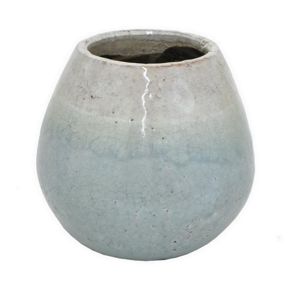 17648 Grey Terracotta Vase Grey