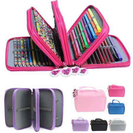 Pen Pencil Case Cosmetic Travel Cosmetic Brush Makeup Storage Bags Pouch Box (Tool Pencil Pouch)