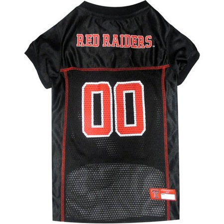 Pets First College Texas Tech Raiders Collegiate Dog Jersey, Available in Various - Tech Dog Jersey
