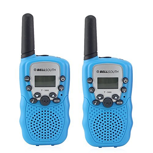 Crony T_388 UHF Band 3KM Small Walkie Talkie Blue _2 pcs_