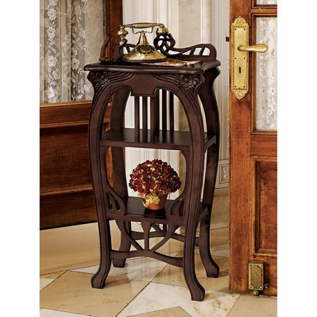 Art Nouveau European Antique Replica Tiered Occasional Side Accent Table