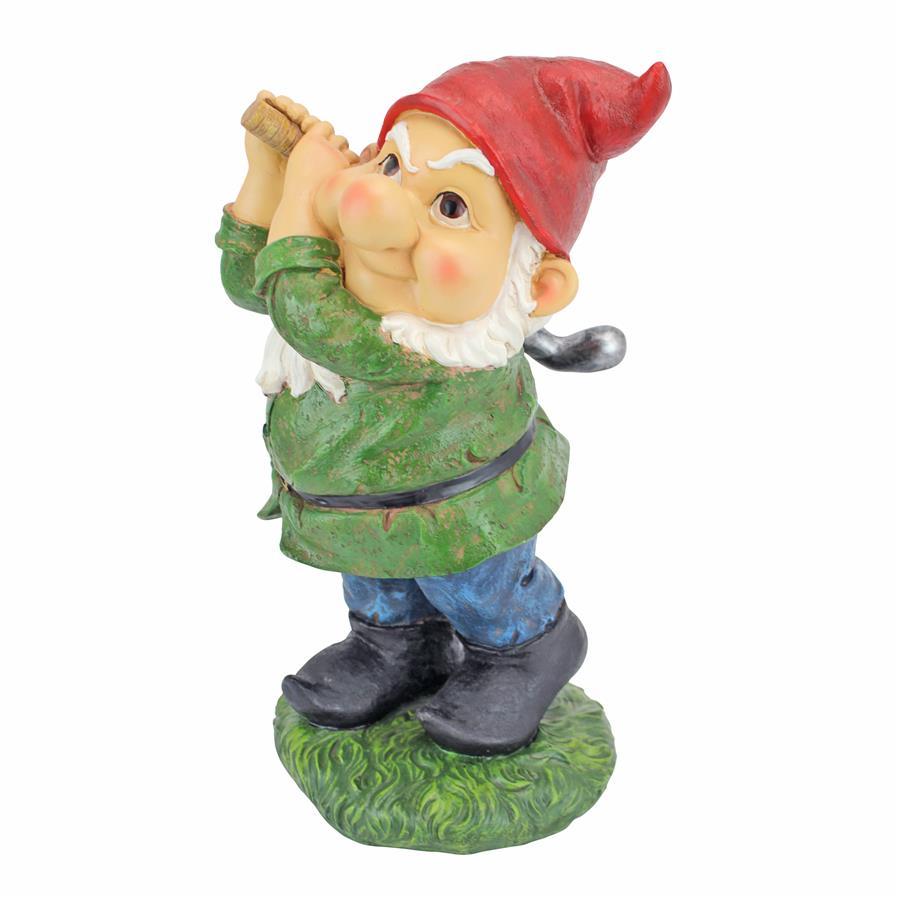 Bogey Burt Garden Gnome Statue by Design Toscano